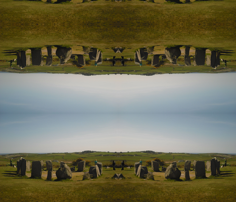 Drombeg Stone Circle, County Cork, Ireland fabric by dovetail_designs on Spoonflower - custom fabric