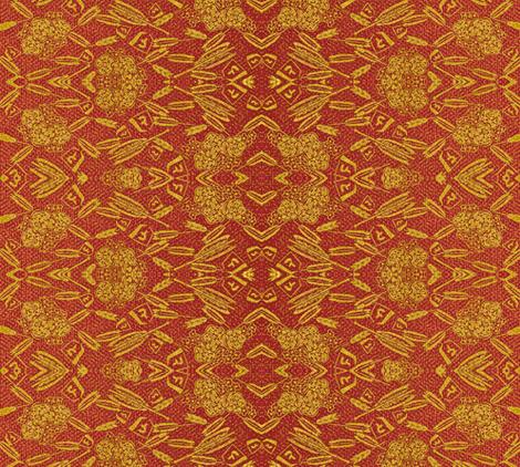 Broken Arrow - red/gold fabric by materialsgirl on Spoonflower - custom fabric