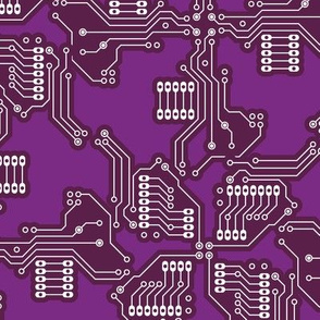 Purple Circuit Board Repeat