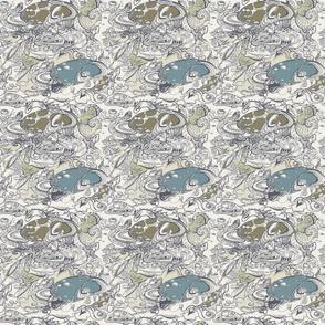 seamless pattern with lizart