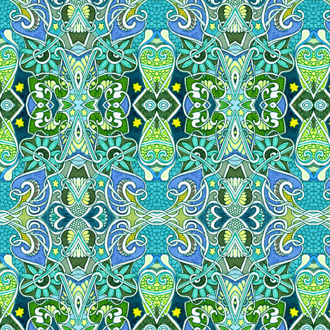 Life Began Under the Sea fabric by edsel2084 on Spoonflower - custom fabric
