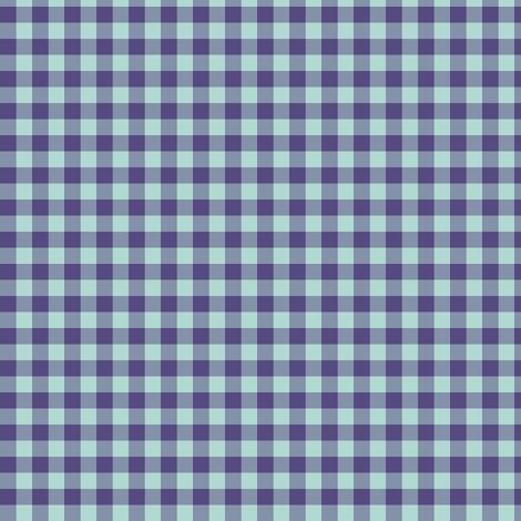 Spring Flowers Quilt blue gingham fabric by weavingmajor on Spoonflower - custom fabric
