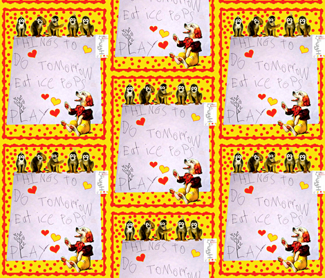 Things To Do Tomorrow fabric by whimzwhirled on Spoonflower - custom fabric