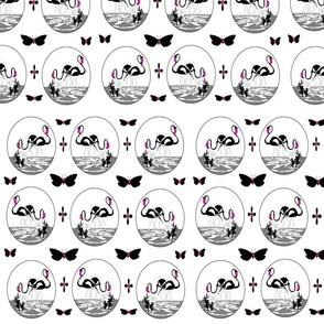 MA-20-Black_White_Pink_Flamingos_Butterflies