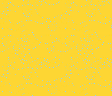 vague_pointillée_ciel_jaune_L fabric by nadja_petremand on Spoonflower - custom fabric