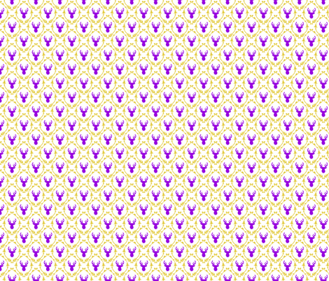 OH DEER (purple + yellow) fabric by biancagreen on Spoonflower - custom fabric