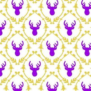 OH DEER (purple + yellow)