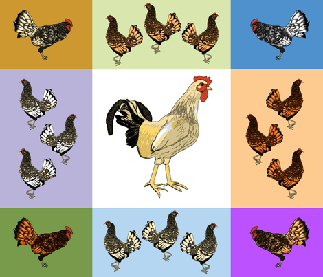 roosters_uneven_9_patch_C fabric by khowardquilts on Spoonflower - custom fabric