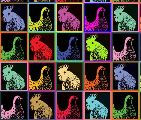 Chicken Art fabric by nezumiworld on Spoonflower - custom fabric