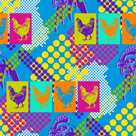 Chicken Pop fabric by siya on Spoonflower - custom fabric