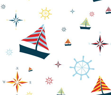 Sailing fabric by svaeth on Spoonflower - custom fabric