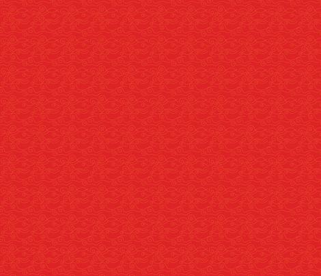 vague_pointillée_rouge_jaune_S fabric by nadja_petremand on Spoonflower - custom fabric