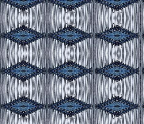 Highbridge Denim Diamonds fabric by relative_of_otis on Spoonflower - custom fabric