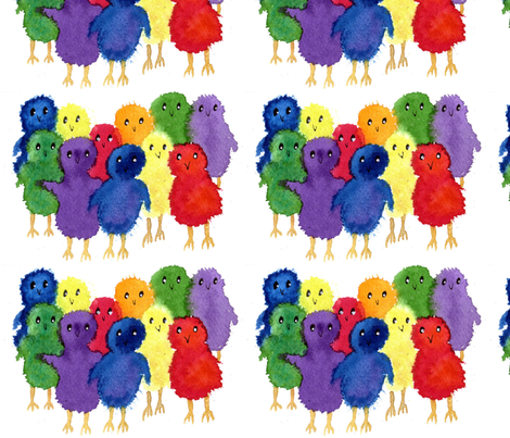 PEEPs fabric by mozache on Spoonflower - custom fabric