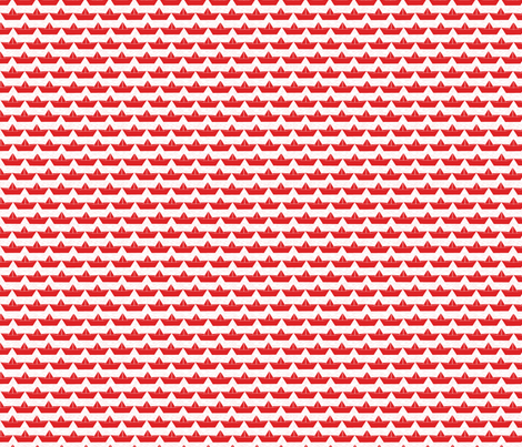 paper_boat_rouge_bord_blanc_S fabric by nadja_petremand on Spoonflower - custom fabric