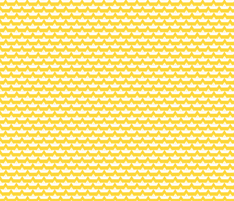 paper_boat_blanc_bord_jaune_S fabric by nadja_petremand on Spoonflower - custom fabric