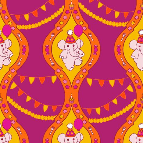 Bollywood Birthday (Plum) fabric by aimee on Spoonflower - custom fabric
