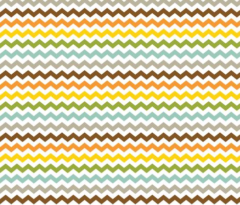Colorful Chevron fabric by jennifercolucci on Spoonflower - custom fabric