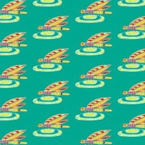 Dragon Fly Doodle green