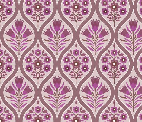 purple bouquet fabric by myracle on Spoonflower - custom fabric