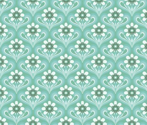 pretty in green fabric by myracle on Spoonflower - custom fabric