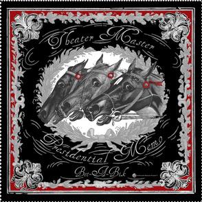 Equestrian bandanas: Charcoal