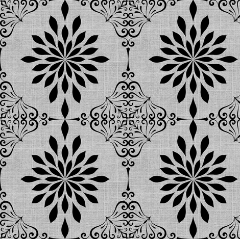 Gray Skies Damask fabric by marchhare on Spoonflower - custom fabric