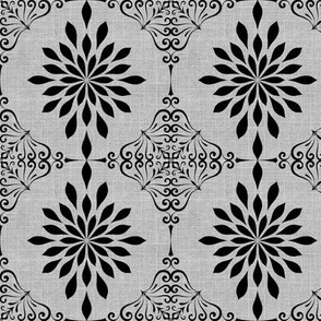 Gray Skies Damask