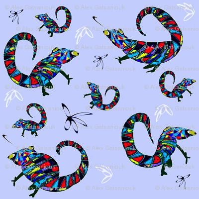Chameleon in Blue