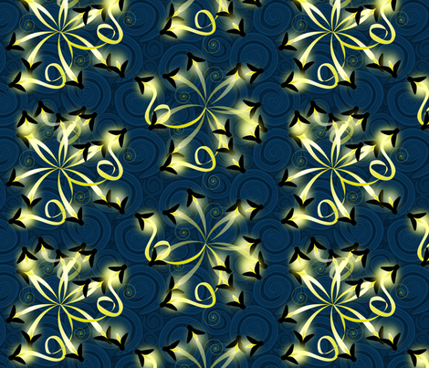 natures fireworks synergy0001 fabric by glimmericks on Spoonflower - custom fabric