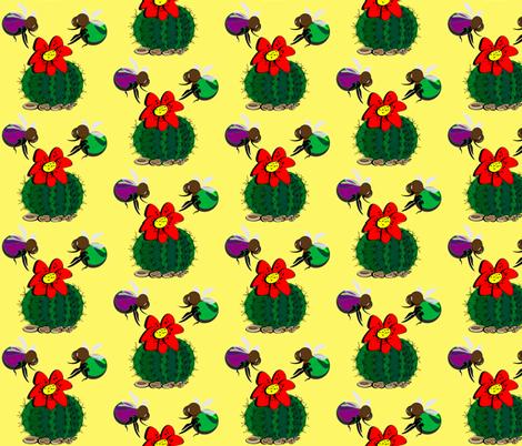 Cactus fabric by retroretro on Spoonflower - custom fabric