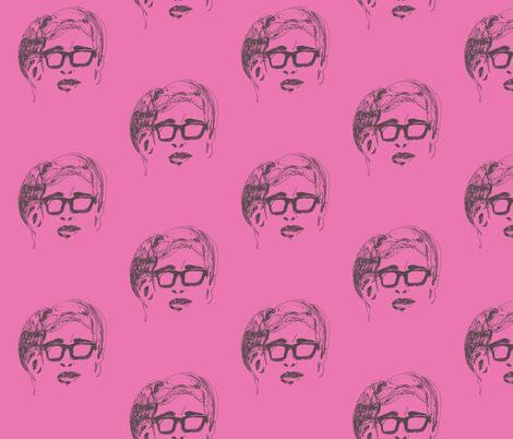 Geek Hero 1 pink fabric by kcs on Spoonflower - custom fabric