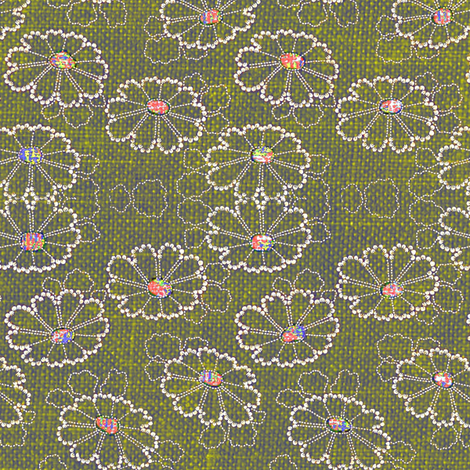 Beaded Daisies fabric by materialsgirl on Spoonflower - custom fabric