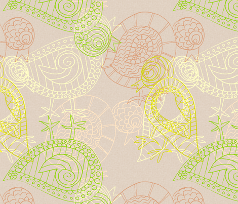 Dodgy Chickens fabric by wiccked on Spoonflower - custom fabric