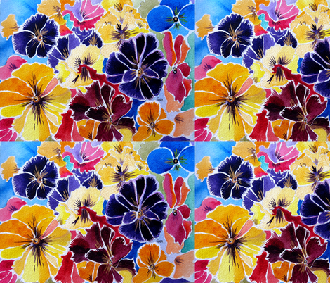 PANSY_AND_LIGHT fabric by geaausten on Spoonflower - custom fabric