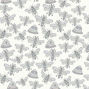 Bees & Beehives, Grey