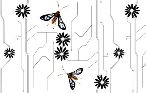 Wasp moth design fabric by de-ann_black on Spoonflower - custom fabric