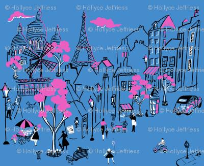 Montmartre de Paris Blue