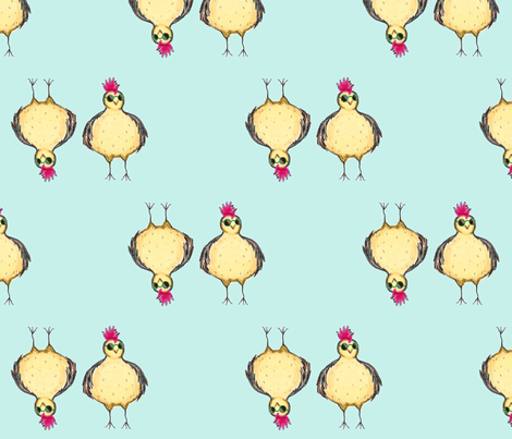 Funky Chicken fabric by thelallies on Spoonflower - custom fabric