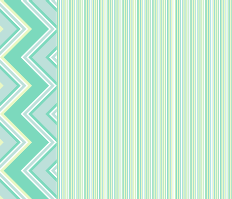 Chevron Border With Mini Stripes! - Lure - Venture - © PinkSodaPop 4ComputerHeaven.com fabric by pinksodapop on Spoonflower - custom fabric