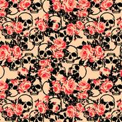 Skull Peach & Coral Floral