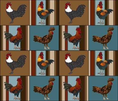 pop chicken fabric by thebumbleshackstudio on Spoonflower - custom fabric
