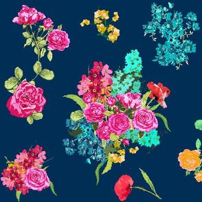 bouquet dark navy