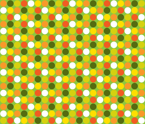 Garden Dots -large fabric by ruthevelyn on Spoonflower - custom fabric