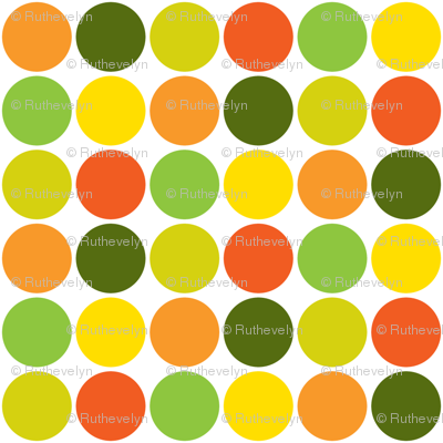 Garden Dots Light -large