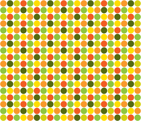 Garden Dots Light -large fabric by ruthevelyn on Spoonflower - custom fabric