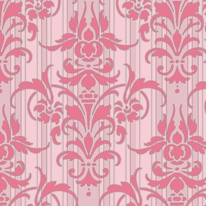 Pink Dawn ~ Pink Damask Stripe