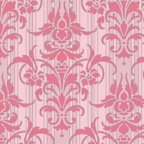 Pink Dawn ~ Pink Damask Stripe