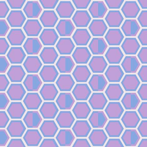 Hexagon Halfsies! - Desert Night - Desert Night Hex - © PinkSodaPop 4ComputerHeaven.com fabric by pinksodapop on Spoonflower - custom fabric