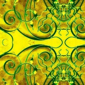 Wrought Iron Sunshine-yellow/green